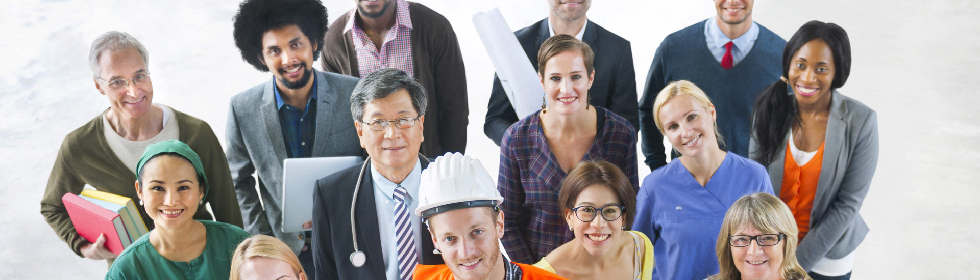 diverse group of professional workers