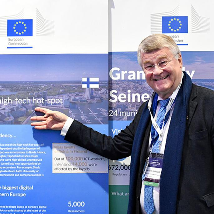 First Vice President of the European Committee of the Regions and Rapporteur for the Digital Europe Programme, Markku Markkula